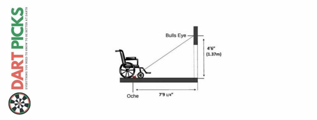 wheelchair darts set up
